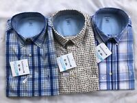 NWT Men Saddlebred Easy Care Long Sleeve Plaid Button Down Shirt Size M/L/XL/2XL