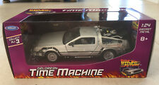 NEW Welly Delorean Time Machine - Back to the Future 1:24 Diecast Car