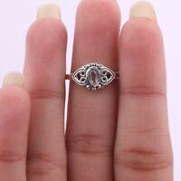 Rose Quartz Gemstone Ring Size 9 925 Solid Sterling Silver Handmade Jewelry