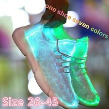 New Summer Led Fiber Optic Shoes for Girls and Boys USB Recharge Glowing Sneaker