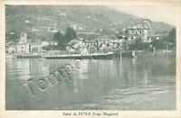 Cartolina Saluti da Suna, piroscafo Alpino e lago Maggiore - Verbania, 1940