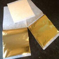 100 Gold Leaf Sheets gold foil - for gilding furniture decoration + FREE P&P