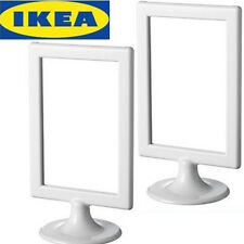 """Lots of 2 IKEA standing picture frames White 4""""x6"""" -- Frome CA"""