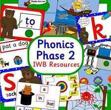 PHASE 2- Letters and Sounds resource-IWB Powerpoints-Interactive phonics EYFS