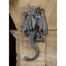 Gothic Menacing Demon Gargoyle Wall Sculpture Medieval Statue