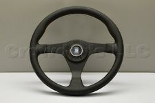 Nardi Gara Steering Wheel - 350 mm - Black Perforated Leather / Red Stitching