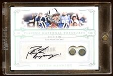 PEYTON MANNING 2007 TREASURES AUTO GAME FACE MASK SP /25  DUAL FACE MASK    HOF