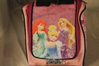 New Disney Princess Insulated Lunch Box Tote Bag Ariel Cinderella Rapunzel Pink