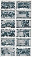 FRANCE LOT 12 VIGNETTES BLEUES FOIRE DE PARIS 1932