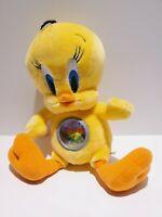Vintage Warner Brothers store Plush Tweety Bird Clock 2000 Rare