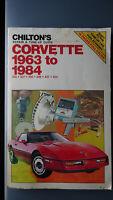 Chilton's Corvette 1963-1984 Repair & Tune-Up Guide FREE US SHIPPING Chevrolet