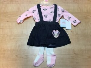DISNEY BABY MINNIE MOUSE BABY GIRL JUMPER PINAFORE DRESS, DENIM *CHECK FOR SIZE