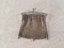 New listing Antique Alpaca Silver Ladies Chain Mesh Purse