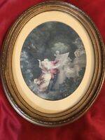 Fragonard The Good Mother Etching Print With Wooden Frame,antique Vintage Art