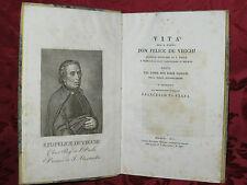 Libro Vita Padre Felice De Vecchi Parroco Sant'Alessandro Milano Valdani 1821