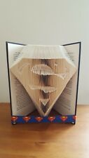 SUPERMAN SUPERHERO FOLDED BOOK ART DAD DADDY BIRTHDAY UNIQUE GIFT