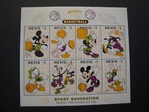 Disney Souvenir Stamp Sheets MNH OG Lot of 5 Topic: Basketball