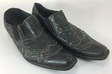 G Rock Brutini Shoes Mens 10 Black w Stitching runs large
