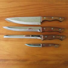 Carvel Hall Stainless Wood Handle Carving Bread Paring Chef's Knives Lot Japan