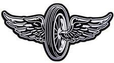 JUMBO EMBROIDERED MOTORCYCLE BIKE WINGS PATCH JBP#80 11 INCHES sew iron back NEW
