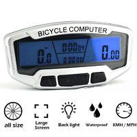 Bicicleta Velocímetro LCD Odómetro velómetro luz fondo impermeable de ciclismo
