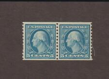 US,496,COIL PAIR,WASHINGTON-FRANKLIN,EARLY 1900'S  COLLECTION MINT NH,OG
