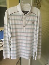 Adidas Climacool Disney Mickey Mouse Golf Polo Shirt M Stripes Long Sleeve