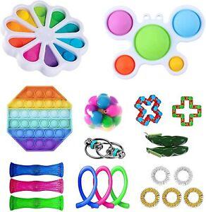 Fidget Pack Cheap Toys Set with Sensory Simple Dimple Pop Bubble Infinite Cube S