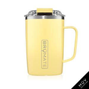 BRUMATE TODDY Mug 16 oz Leak proof Locking Lid hot or cool - DAISY Yellow