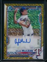 DYLAN MACLEAN AUTO 2021 Bowman Chrome Autograph GOLD SHIMMER REFRACTOR #/50 RC