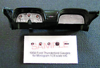 1958 FORD THUNDERBIRD GAUGE FACES for 1/24 scale MONOGRAM KITS