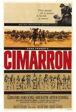 CIMARRON Movie POSTER 27x40 Glenn Ford Maria Schell Anne Baxter Arthur O'Connell