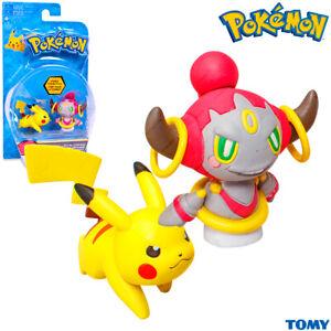 TOMY T18865 Pokemon PIKACHU & HOOPA CONFINED, Figurine, Original