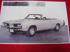 1970 DODGE CORONET R/T CONVERTIBLE 11 X 17  PHOTO  PICTURE