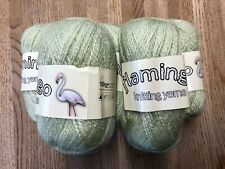 Wool Yarn Knitting/Crochet 100% Acrylic's Flamingo 5x100g Pastel Mint Green DK