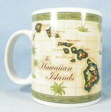 Hawaiian Islands Coffee Mug Map Palm Trees ABC Stores