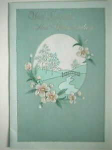 "Hallmark ~ ""WITH SYMPATHY AND UNDERSTANDING"" GREETING CARD + PINK ENVELOPE"
