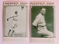 "Exhibit Card ---JACKIE ROBINSON & LOU GEHRIG---  1977- 3.5"" x 5""  H of F  CARDS"
