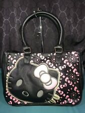 Hello Kitty Loungefly Black Satchel Bag Face Pink Bow