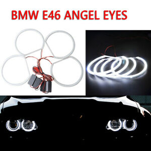 4pcs 131mm White Front CCFL LED Angel Eyes Halo Rings for BMW E36 E38 E39 E46