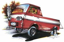 Classic Car T Shirt (MEDIUM) '62 Ford Econoline Pick-Up (Brent Gill # POS-332)