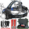90000LM T6 LED Waterproof Head Torch USB Rechargeable Headlamp Flashlight Lamp