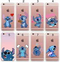 COVER Custodia case silicone stitch minnie cartoni 3d per iphone 5 6 7 S 8 Plus
