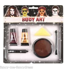 6 piece Zombie Make Up Fake Blood Face Paint Halloween Fancy Dress Costume Kit