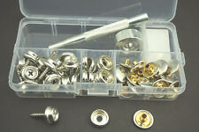 Stainless Steel Canvas to Screw Press Stud Kit For Car/Boat Canopies 62PCS