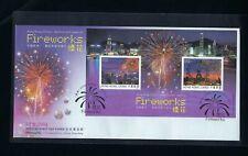 China Hong Kong 2006 FDC Firework Joint Austria Crystal Swarvoski stamps S/S