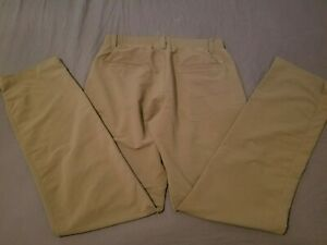 Mens Under Armour Pants 32x34 Khaki Athletic Golf Slack Trouser