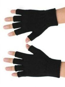 Fingerless Mens Womens Unisex Black magic Half Finger gloves