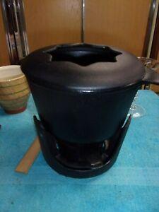 Cast Iron Fondue Pot Stand & Sterno Dansk? Unused