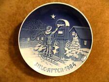"Royal Copenhagen B&G Collector Plate ""The Christmas Letter"" 1984"